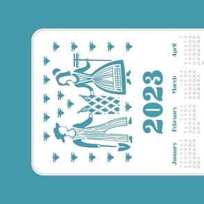2020 Calendar Towel Pyrex Butterprint
