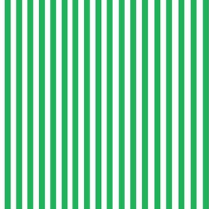 Perfectly Pinstripe in Grass Green // White