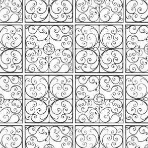 wrought iron tiles