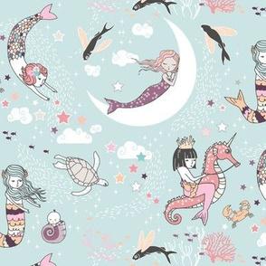 Mermaid Lullaby (sea foam) SMALL