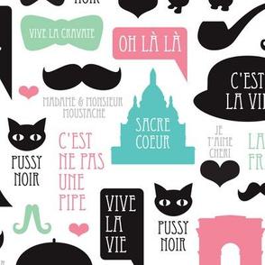 Paris poodle oh la la french romantic travel icon design for paris lovers