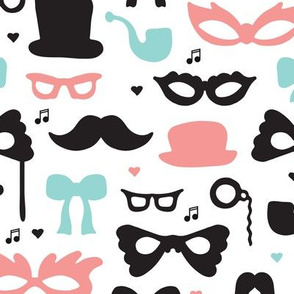 Theater mustache hipster geek great gatsby theme