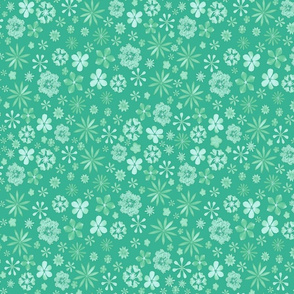 Calico Mint Green