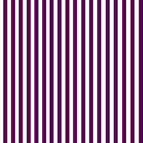 Perfectly Pinstripe in Eggplant // White