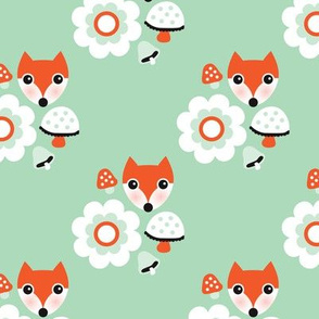 Autumn fox blossom mint  orange woodland