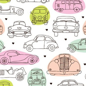 Oldtimers and cars vintage toys for girls