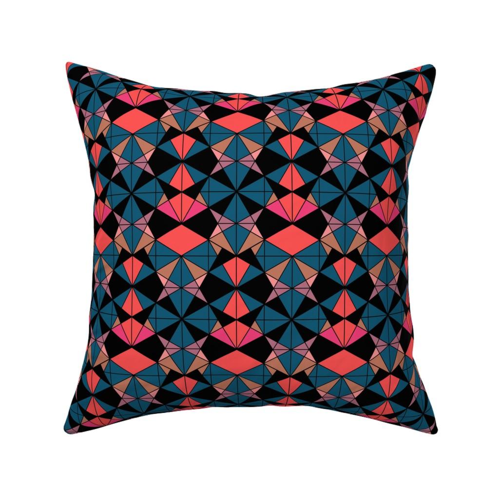 Catalan Throw Pillow featuring Geometrics by kimsa