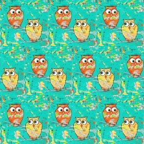 Orange Yellow Woodland Owls