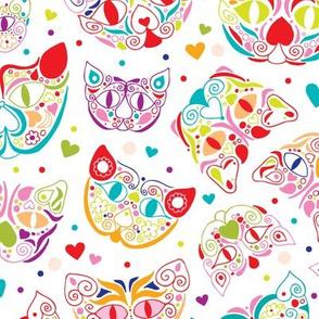Rockabilly mexican kitty cat