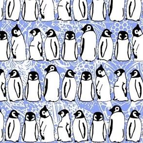 baby ice penguins cornflower blue