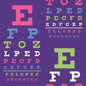 XL Fiesta Vision Chart in Synergy0011 colors