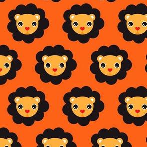 Retro circus lions cool kids design