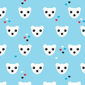 Polar bear winter love actic bears theme for kids