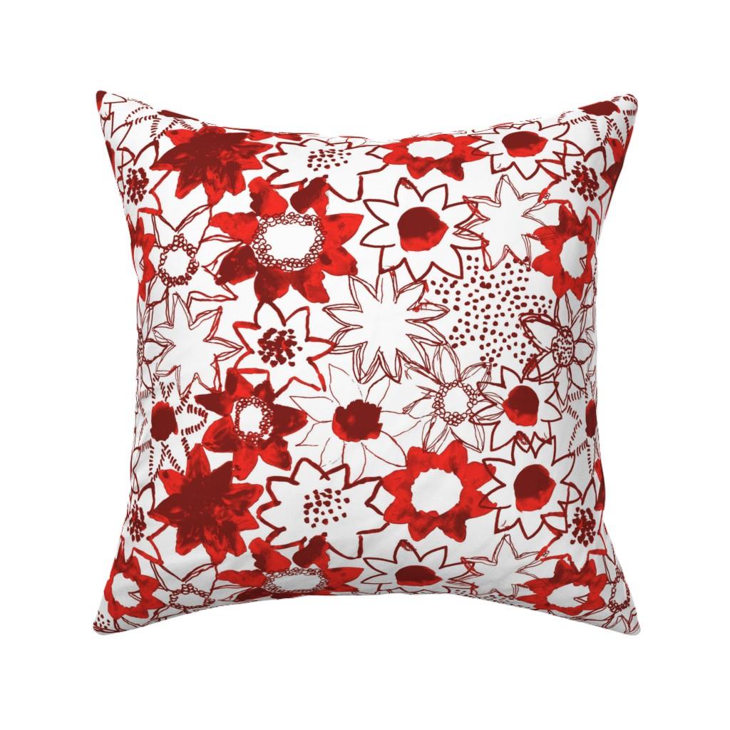 Catalan Throw Pillow featuring Flower by susanna_nousiainen