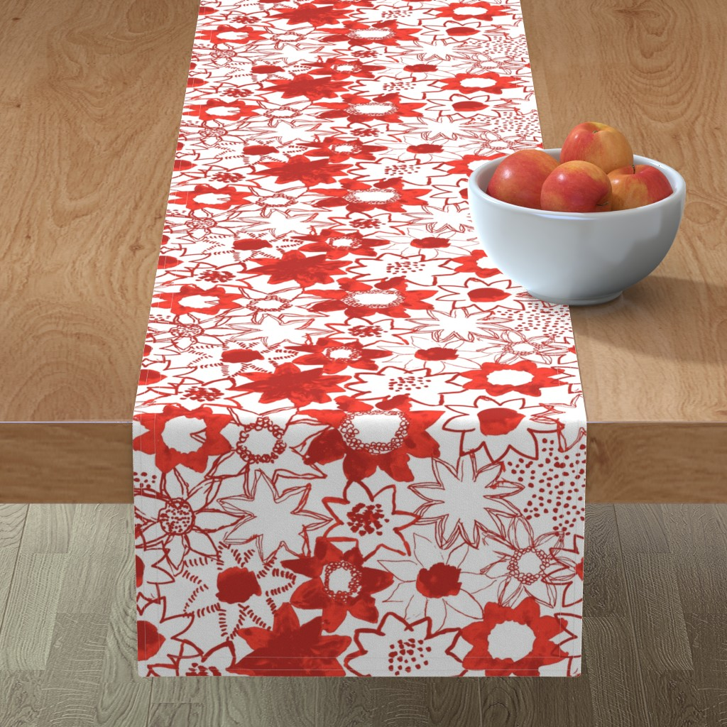Minorca Table Runner featuring Flower by susanna_nousiainen