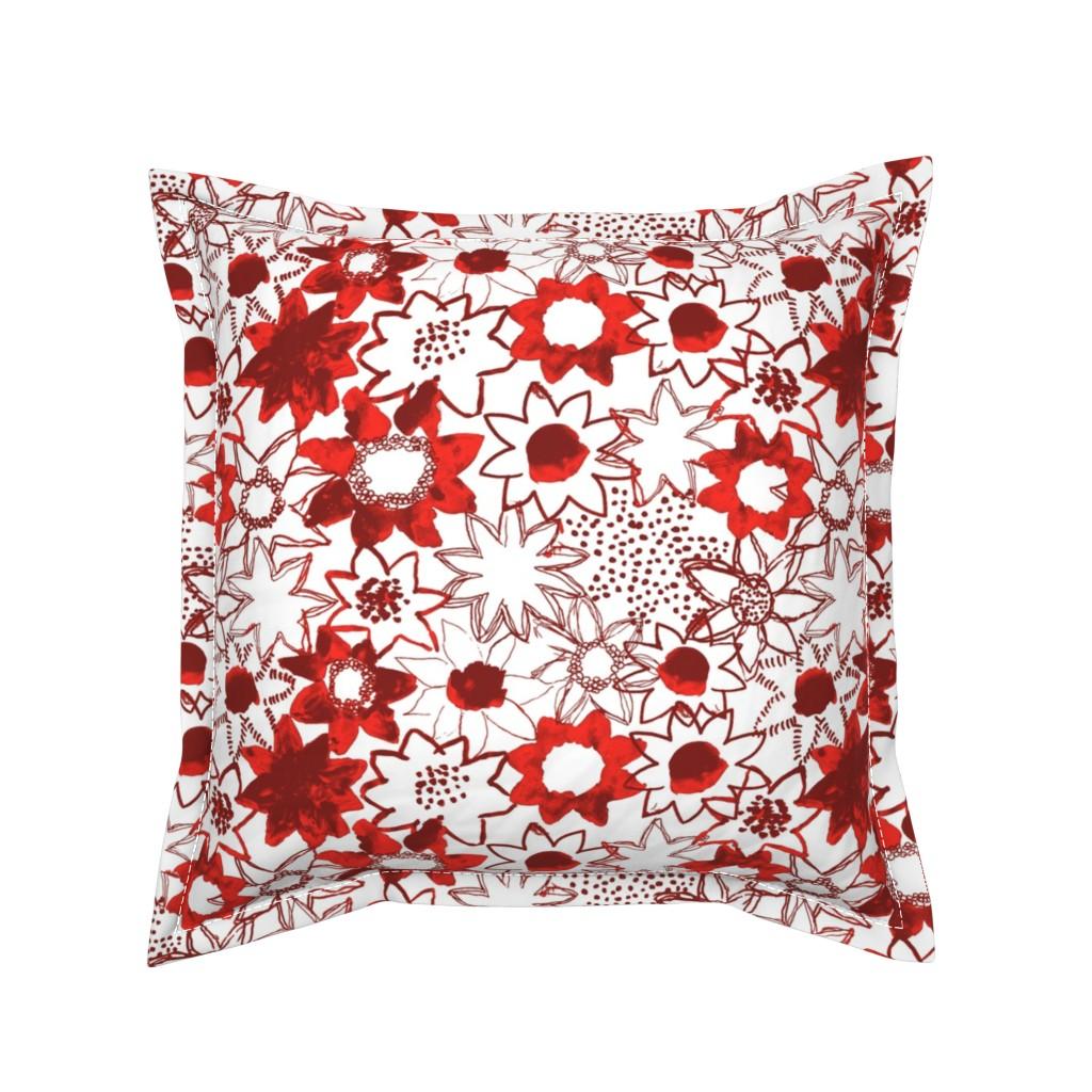Serama Throw Pillow featuring Flower by susanna_nousiainen