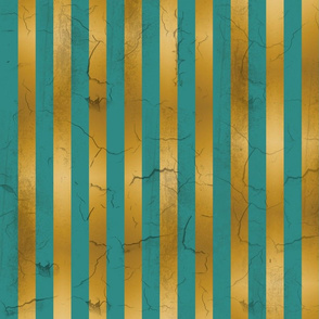 Distressed Stripes Teal