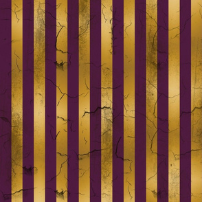 Distressed Stripes Purple and Gold