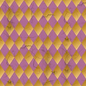 Distressed Harlequin Light Purple