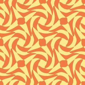 geometric rose in Spring Floral yellow and orange