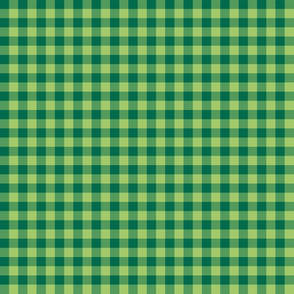 apple and emerald gingham