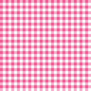 pink and white gingham