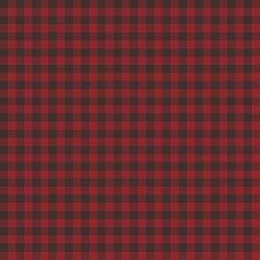 Autumn Red Gingham