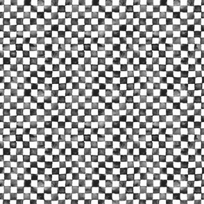 "small watercolor checkerboard 1/2"" squares - black and white"