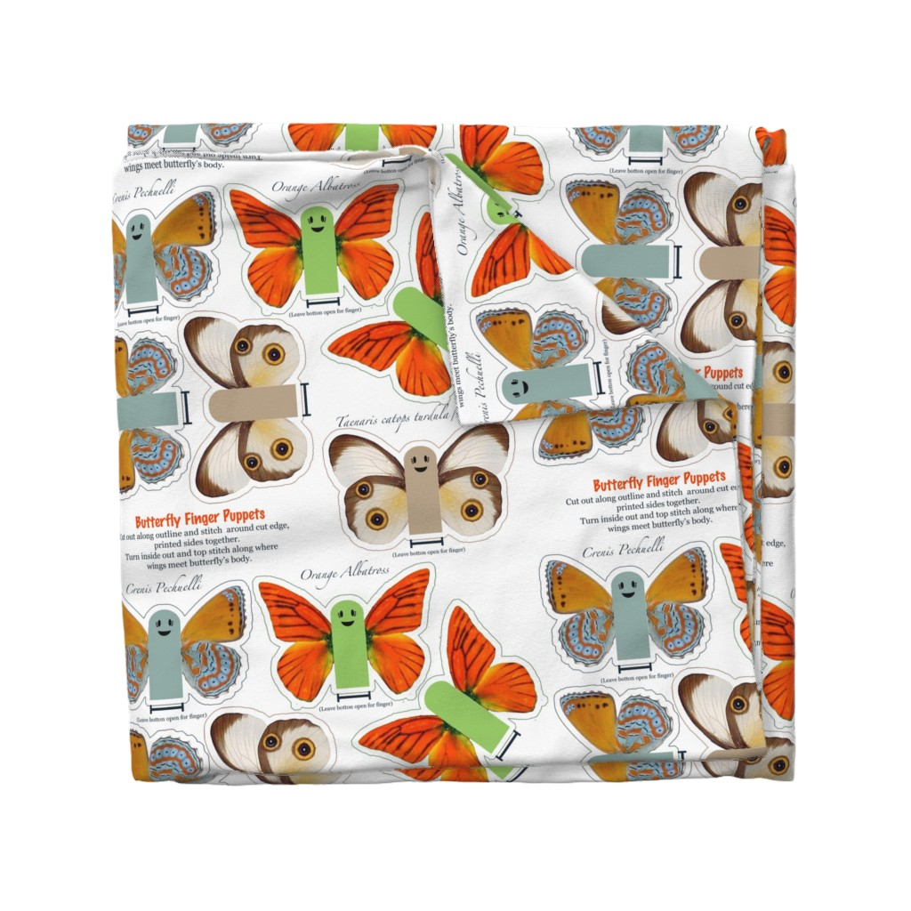Wyandotte Duvet Cover featuring Butterfly Fingers by suzy_albert_design