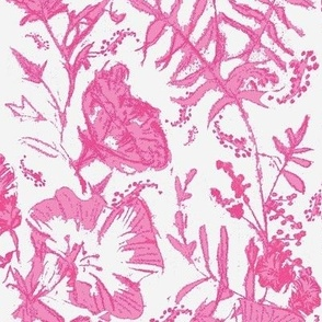 In the Pink Floral Hand-drawn Chintz