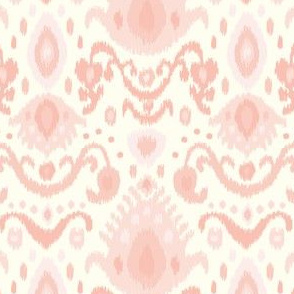 Ivory and Pink Ikat