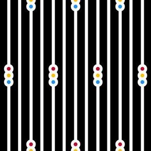 Triple Circle Stripes on Black