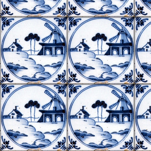 Blue & White ~ Dutch Tile