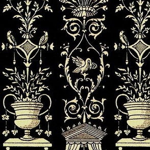 Greek Trellis ~ Ebony and Ivory
