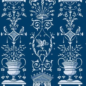 Greek Trellis ~ Blue