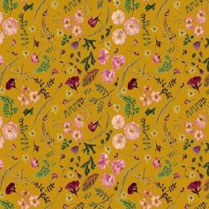 Bohemian Roses Mustard