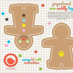 Gingerbread man sewing kit