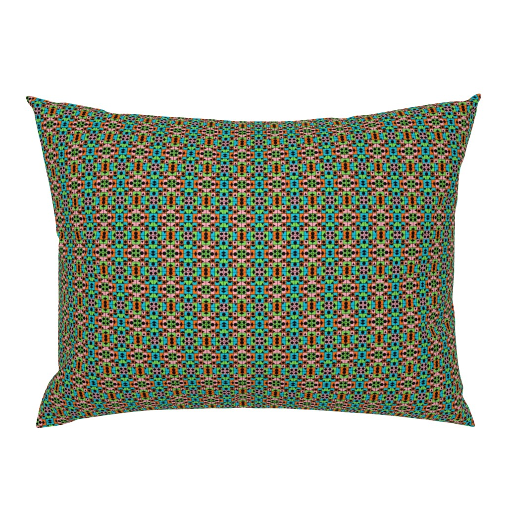 Campine Pillow Sham featuring TUTTI FRUTTI SPRING Small Scale Geometric by paysmage