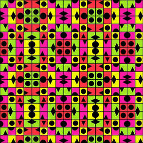 TUTTI FRUTTI SUMMER large scale geometric