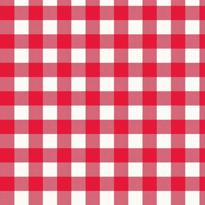Gingham check red