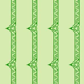 celtic ribbon 2 green