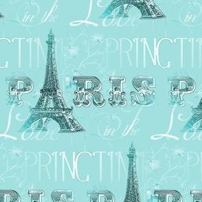 Paris in Springtime Aqua
