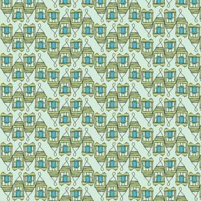 blue candle line seafoam