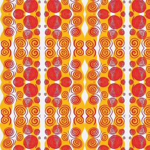 Spirals Red Gold