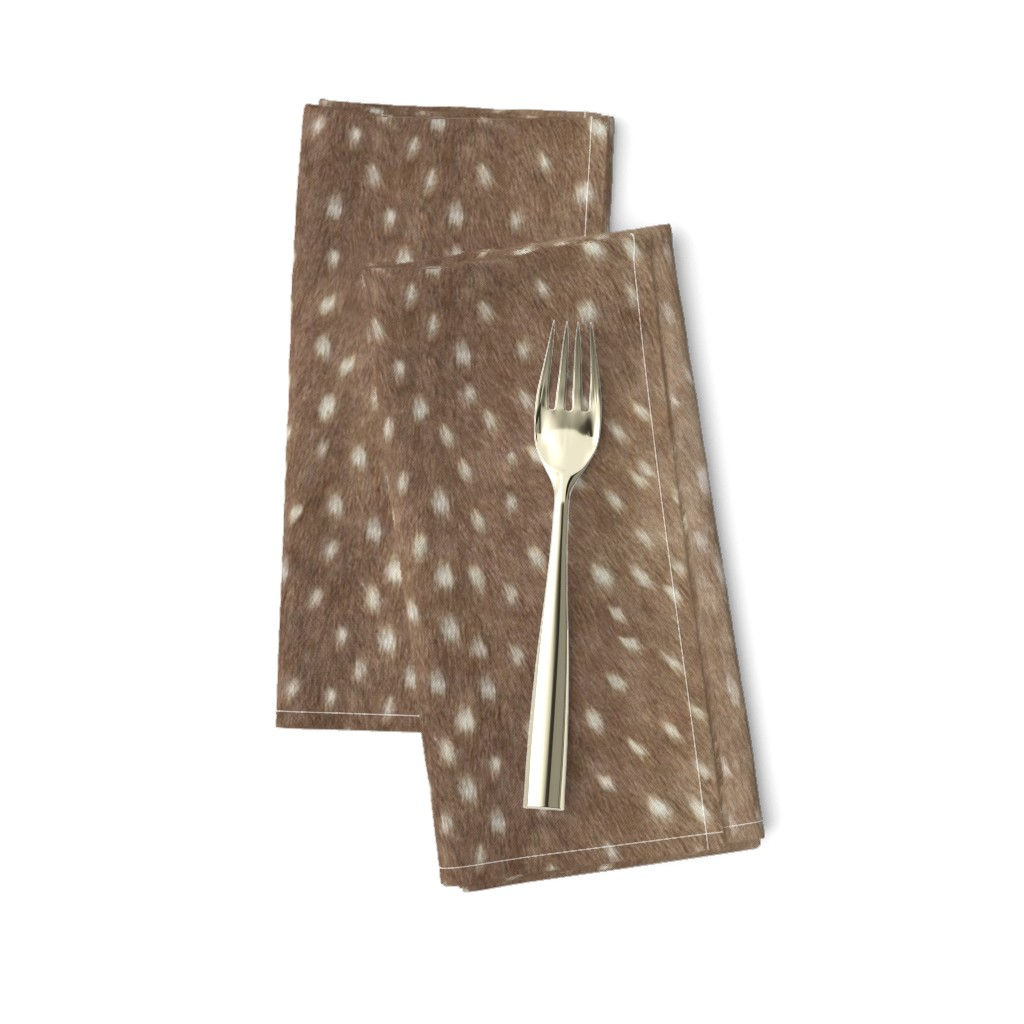 Amarela Dinner Napkins featuring Soft Deer Hide Fabric and Wallpaper in Taupe by willowlanetextiles