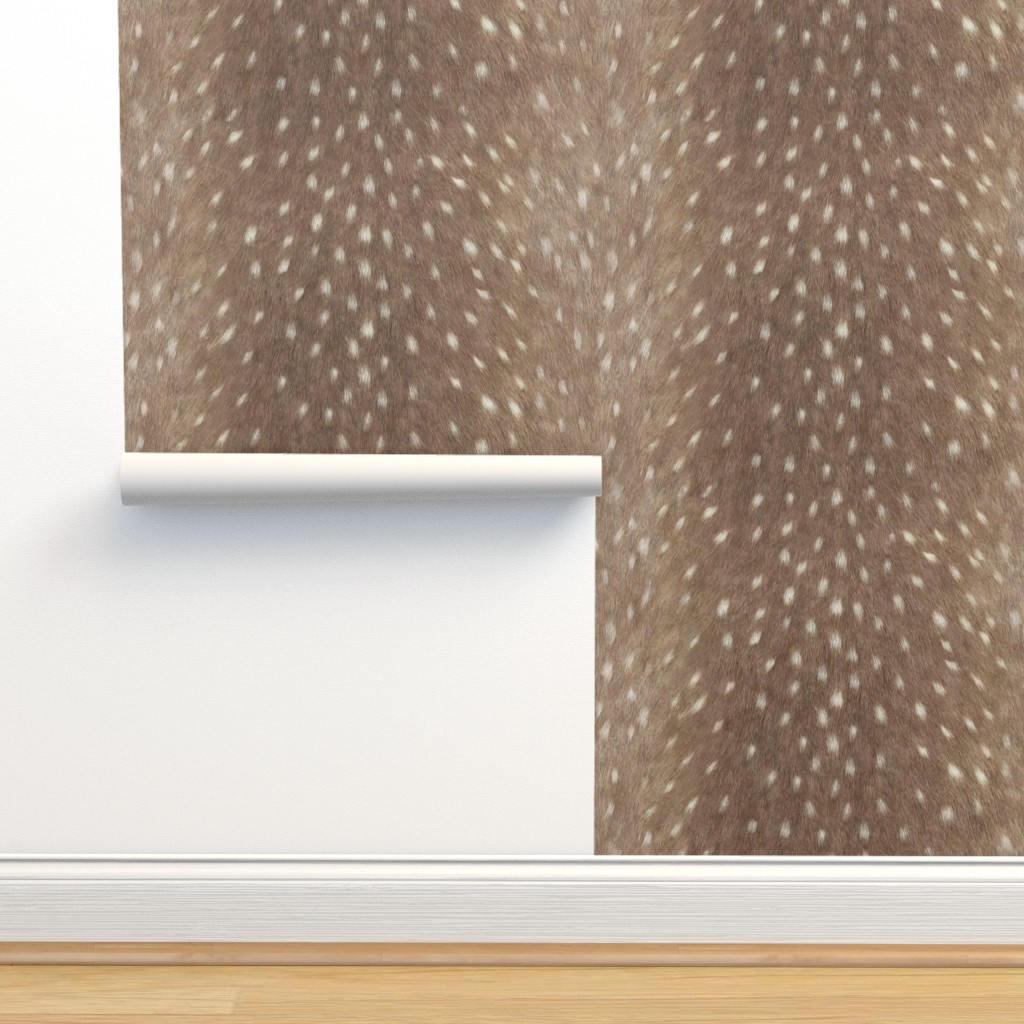 Isobar Durable Wallpaper featuring Soft Deer Hide Fabric and Wallpaper in Taupe by willowlanetextiles