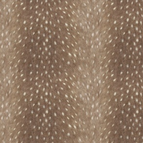 Soft Deer Hide Fabric and Wallpaper in Taupe