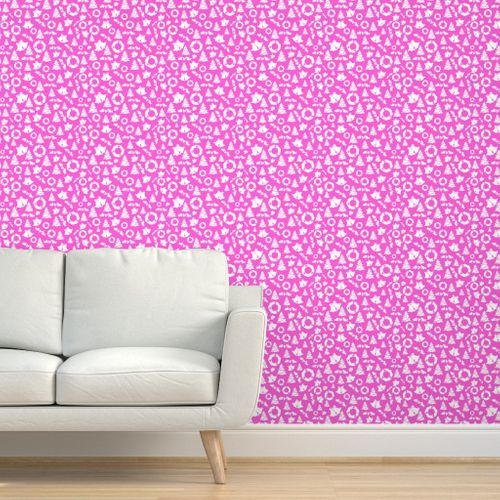 2408584 pink white christmas by puggy bubbles