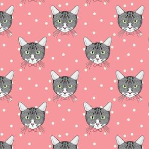 Polka Cats Pink