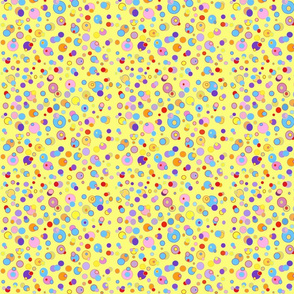 Yellow Bubble Dots , Mc lion  collection by Rosanna Hope for babybonbons